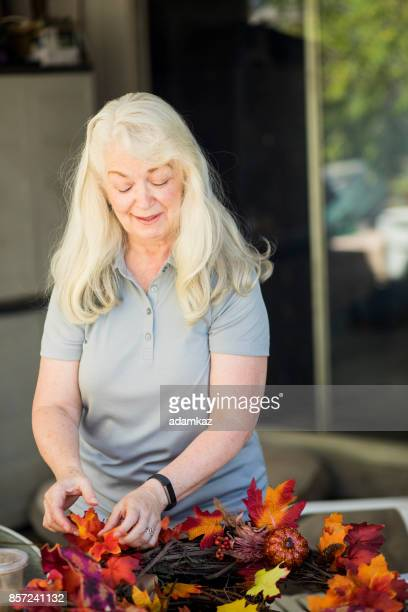 Senior women crafting