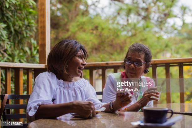 Senior Women enjoying coffee