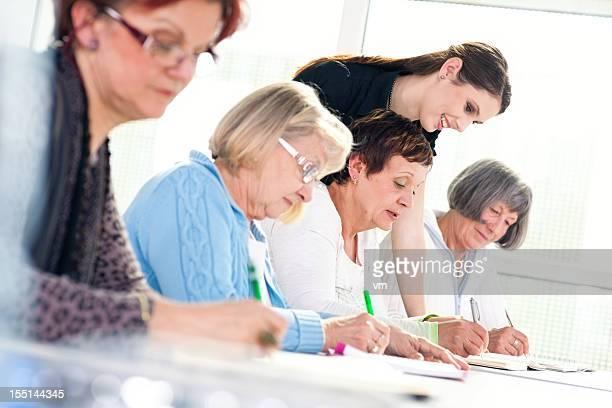 Senior women on the seminar