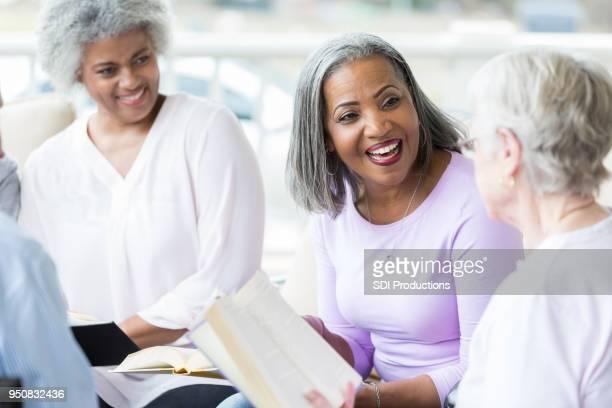 Senior women participate in book club