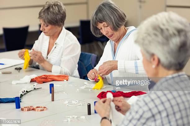 Senior Women Participating Craft Class