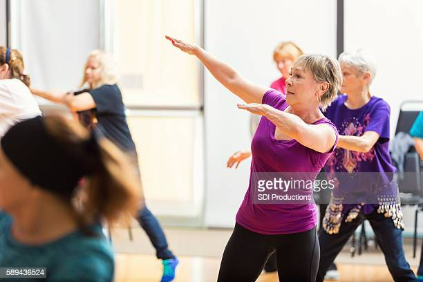 Senior women take Dance lessons