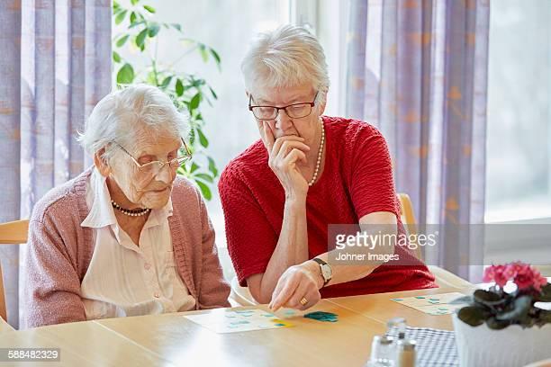 Senior women together
