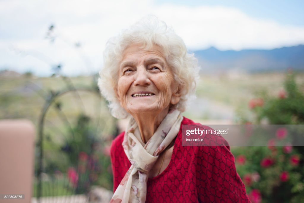 Senior Women with Gentle Smile : Stock Photo