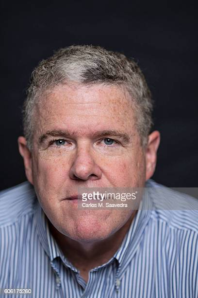 Closeup portrait of Sports Illustrated senior writer and The MMQB founding editor Peter King during photo shoot at Time Life Building New York NY...