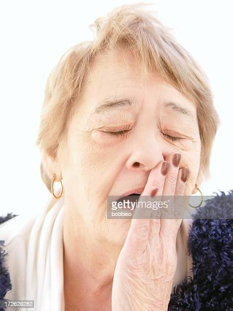 senior - yawning