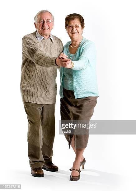 seniors: a senior couple enjoying ballroom dancing together