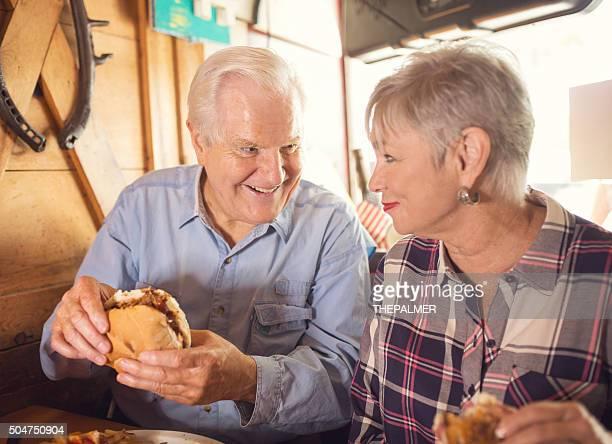 Seniors at a restaurant