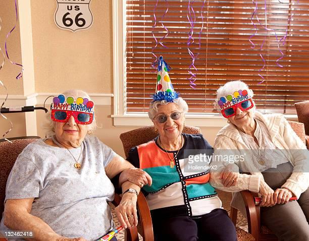 Seniors at birthday party