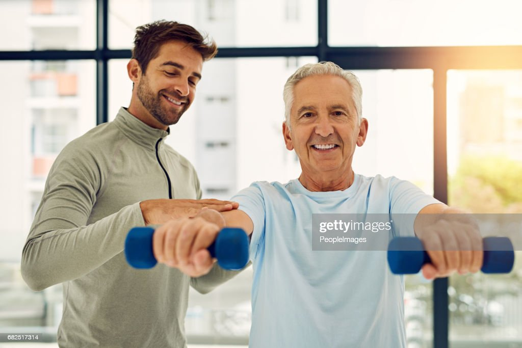 Seniors can be strong too : Stock Photo