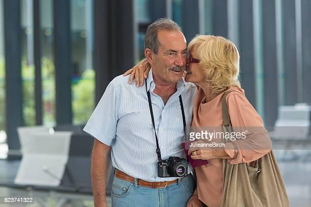 Seniors close moment before departure