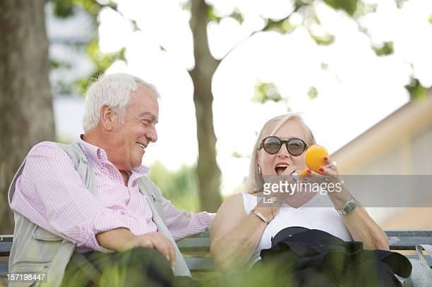 Seniors Flirting