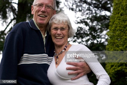 Seniors Frolicking In The Woods Stock Photo  Getty Images-5819