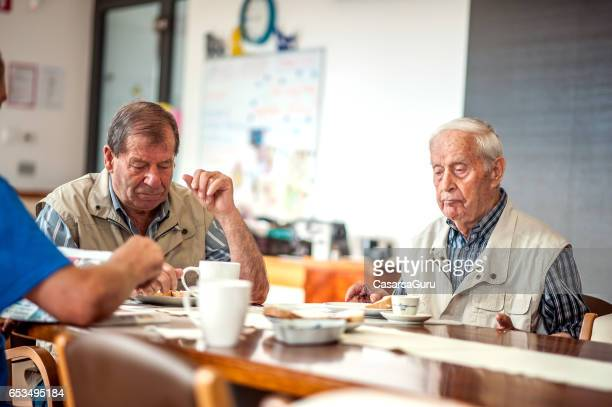 Seniors Having Breakfast in a Elderly Daycare Center