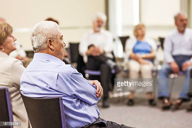 Seniors in the community center
