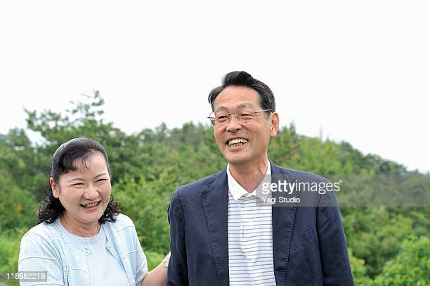 a senior's married couple,smile,japan,kyoto - newhealth stock photos and pictures