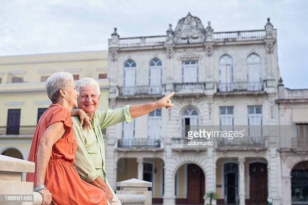 Seniors on vacations sightseeing