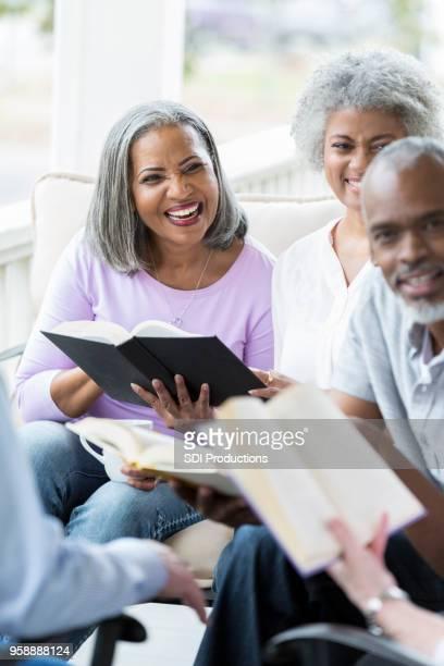 Seniors participate in book club