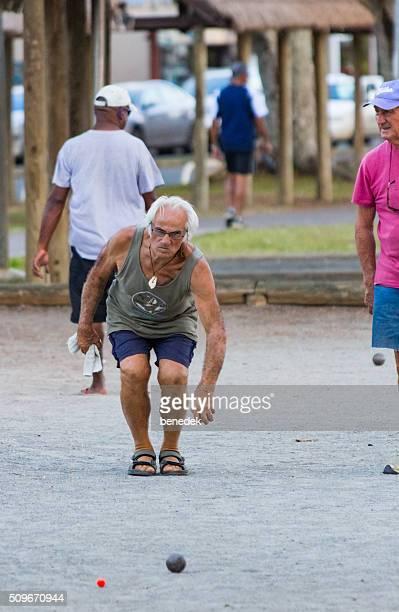 Seniors Play Bocce or Petanque