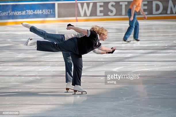 seniors skating ... west edmonton mall - edmonton stock pictures, royalty-free photos & images