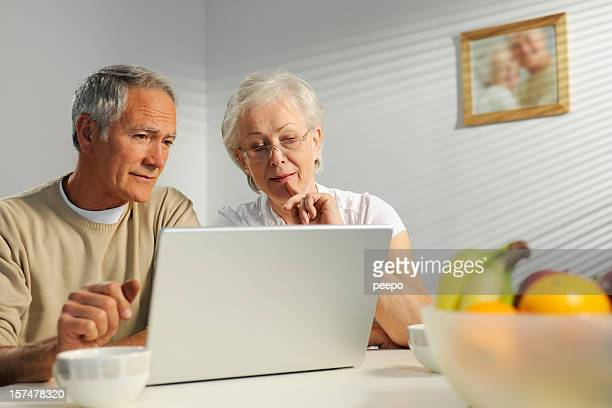 seniors using laptop