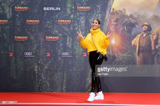 Senna Gammour attends the German premiere of 'Jumanji Willkommen im Dschungel' at Sony Centre on December 6 2017 in Berlin Germany