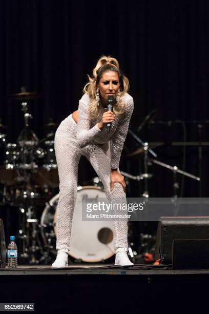 Senna Gammour performs onstage during the 'Liebeskummer ist ein Arschloch' Tour at the EWerk on March 12 2017 in Cologne Germany