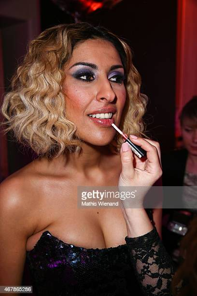 Senna Guemmour attends the Gloria Deutscher Kosmetikpreis 2015 at Hilton Hotel on March 27 2015 in Duesseldorf Germany
