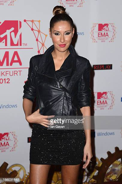 Senna Guemmour attends the MTV EMA's 2012 at Festhalle Frankfurt on November 11 2012 in Frankfurt am Main Germany