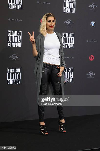 Senna Guemmour attends the 'Straight Outta Compton' European premiere at CineStar on August 18 2015 in Berlin Germany