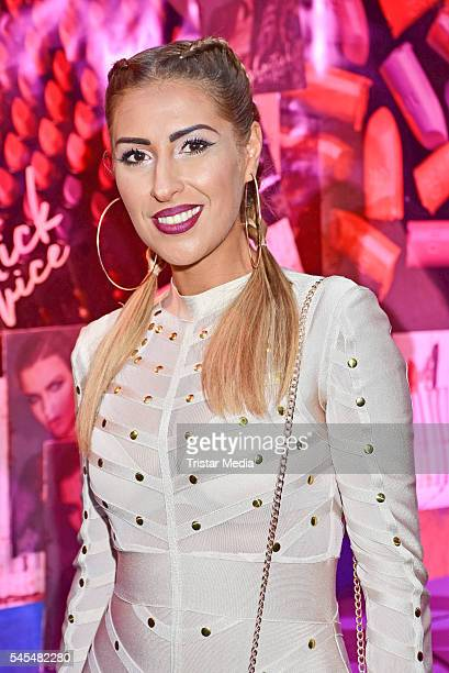 Senna Guemmour attends the URBAN DECAY Vice Lipstick Launch at Prince Charles Club on July 7 2016 in Berlin Germany