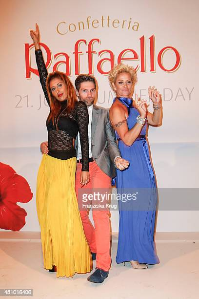 Senna Guemmour Christian Polanc and Claudia Effenberg attend the Raffaello Summer Day 2014 on June 21 2014 in Berlin Germany