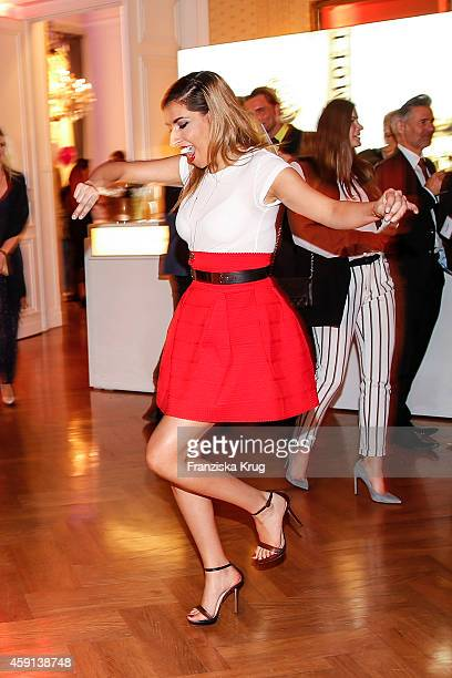 Senna Guemmour dances at the Deichmann Shoe Step of the Year 2014 on November 17 2014 in Hamburg Germany