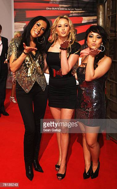Senna Guemmour Mandy Capristo and Bahar Kizil members of the girl band Monrose attend the Tribute To Bambi Charity Gala held at the Boehler Werke on...
