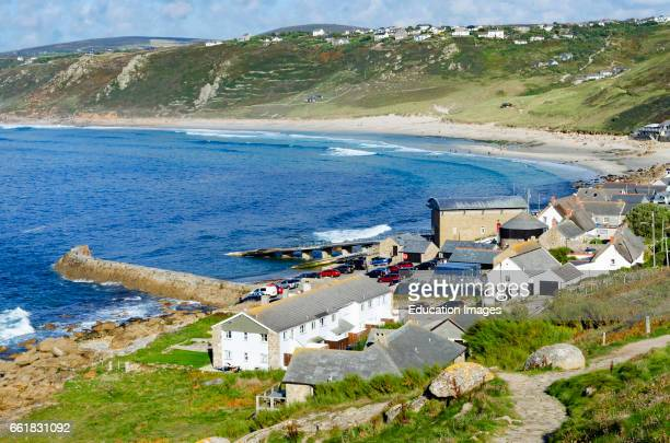 sennen cove near lands end in Cornwall England UK