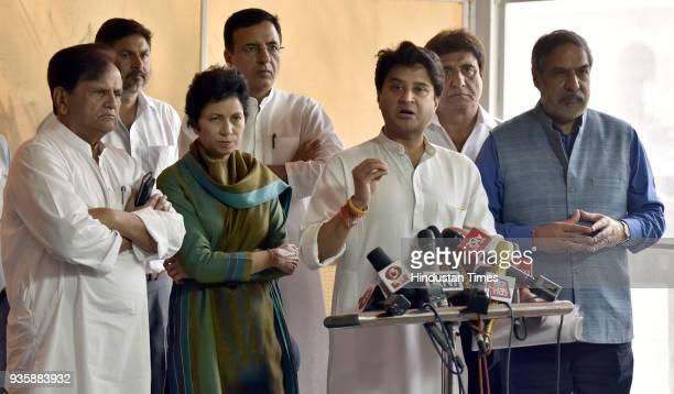 Senoir Congress leader Ahmed Patel Uttar Pradesh Congress unit chief Raj Babbar Congress leader Anand Sharma Lok Sabha MP Jyotiraditya Scindia...
