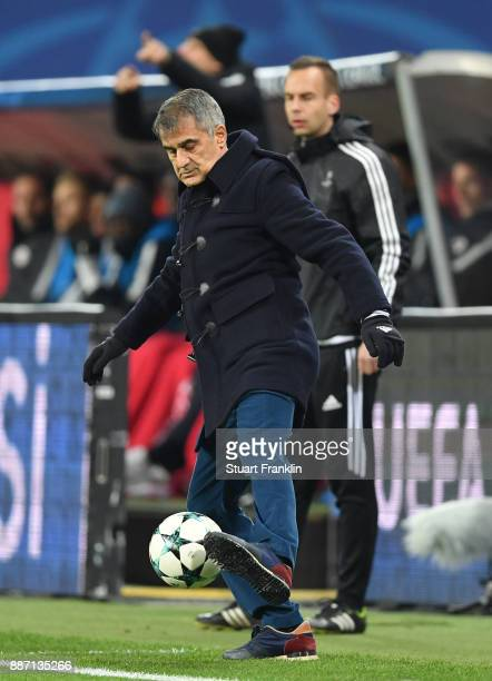 Senol Gunes Manager of Besiktas during the UEFA Champions League group G match between RB Leipzig and Besiktas at Red Bull Arena on December 6 2017...