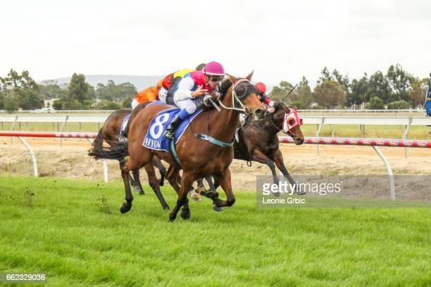 Senorita On Safari ridden by Chris Caserta wins the Classicbet 0 58 Handicap at Bairnsdale Racecourse on April 01 2017 in Bairnsdale Australia