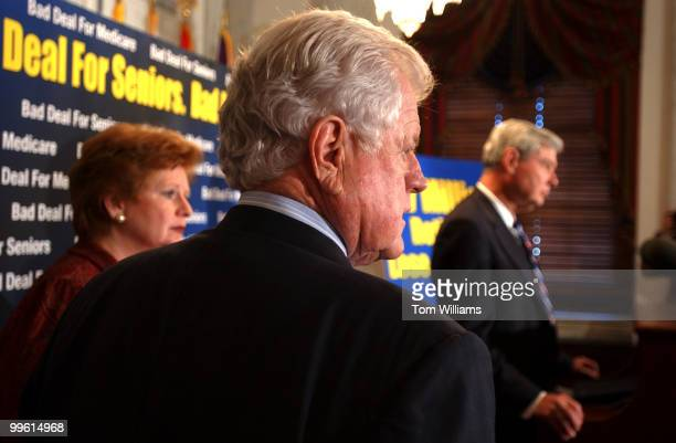 Sens. Debbie Stabenow, D-Mich., Ted Kennedy, D-Mass., and Bob Graham, D-Fla., attended a news conference in which they criticized the Medicare Bill,...