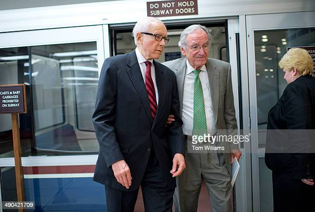 Sens Orrin Hatch RUtah left and Tom Harkin DIowa make their way through the basement of the Capitol en route to a vote in the Senate May 14 2014