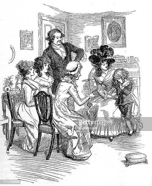 'Sense and Sensibility' by Jane Austen Lady Middleton's son is shy before company First published in 1896 Chapter VI Illustration by Hugh Thomson...