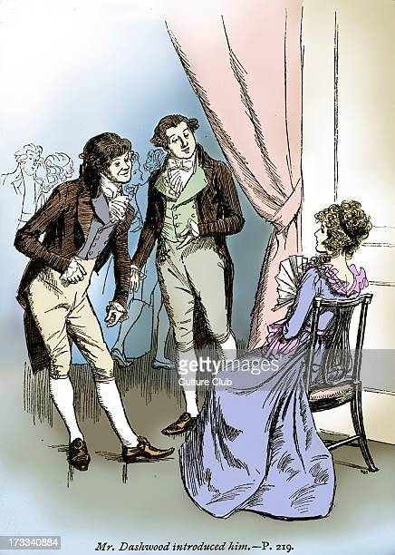 'Sense and Sensibility' by Jane Austen Mr Dashwood introduces Elinor to Robert Ferrars Chapter XXXVI First published in 1811 Illustration by Hugh...
