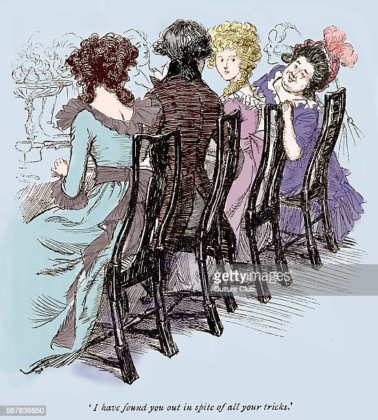 Sense and Sensibility by Jane Austen Mrs Jennings talking to Marianne at Whitwell Chapter XIII Caption reads I have found you out in spite of all...