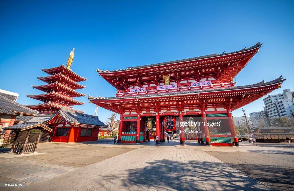 Sensoji (Senso-ji) temple at Asakusa, Tokyo, Japan : Foto de stock