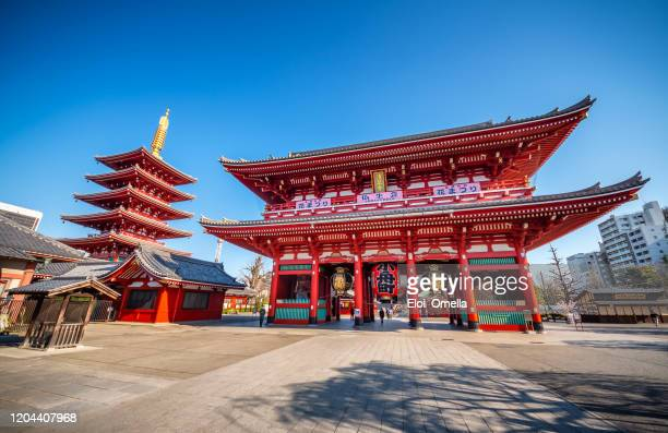 sensoji (senso-ji) temple at asakusa, tokyo, japan - tokyo japan stock pictures, royalty-free photos & images