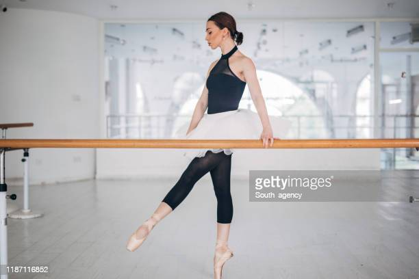 sensual ballerina in dance studio - rehearsal stock pictures, royalty-free photos & images