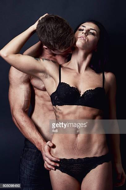 Sensual couple posing