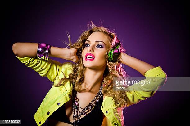 sensual disco girl - 1980 stock pictures, royalty-free photos & images
