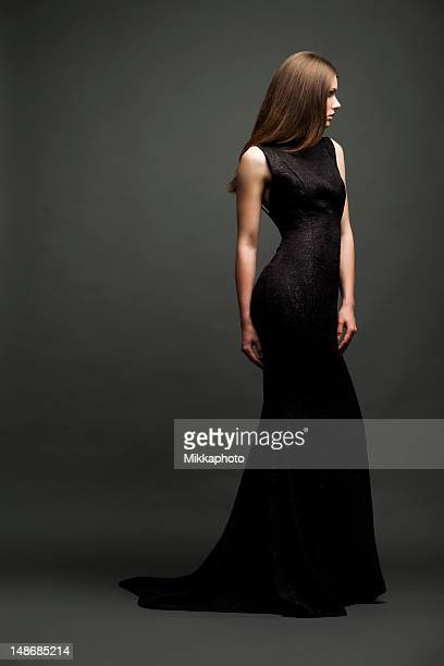 sensual glamour girl - evening gown stock photos and pictures