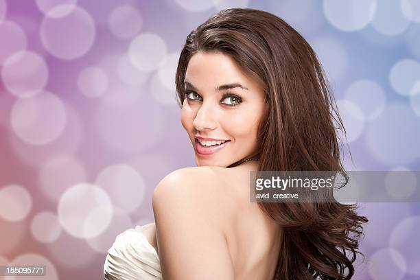 sensual hispanic girl at party - evening wear stock pictures, royalty-free photos & images